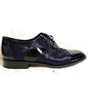 Mezlan VEGAS Patent Leather Cap Toe Oxfords 8B